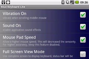 Screenshot of Blue Keyboard DEMO