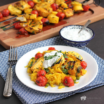 Persian Swordfish Kabobs with Cilantro Tzatziki