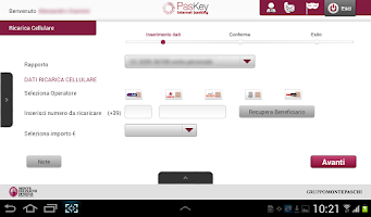 Screenshot of Banca MPS per Tablet