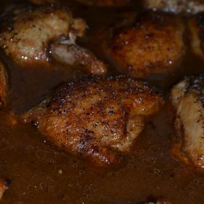 Sweet Tea Braised Chicken Thighs