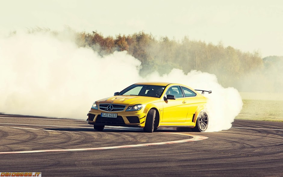 C63 Black Series drifting