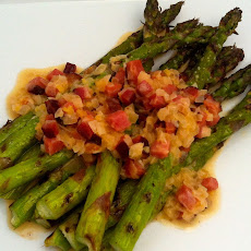 Grilled Asparagus with Creamed Bacon