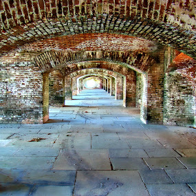 Inside Fort Jefferson by Alice Gipson - Buildings & Architecture Decaying & Abandoned ( fort jefferson, fort.corridors, key west, abandoned, building )