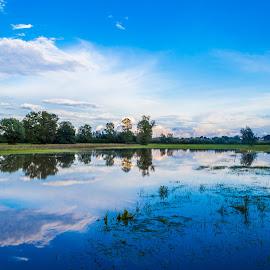 Flood by Štefan Brajković - Landscapes Prairies, Meadows & Fields ( croatia, bjelovar-bilogora county, bjelovar )
