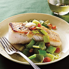 Halibut with Leeks