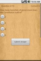 Screenshot of US Constitution