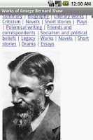Screenshot of Works of George Bernard Shaw
