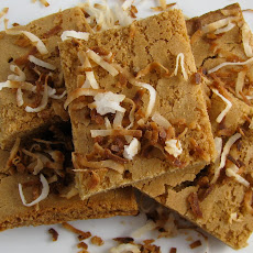 Coconut Cream Blondies