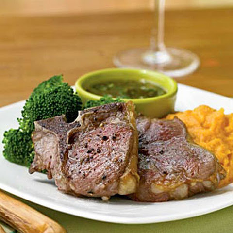 Lamb Chops with Mint-Fig Sauce