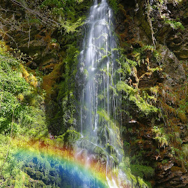 Big Burn Walk Waterfall, Golspie by Chris Thornton - Landscapes Waterscapes ( waterfall, golspie )
