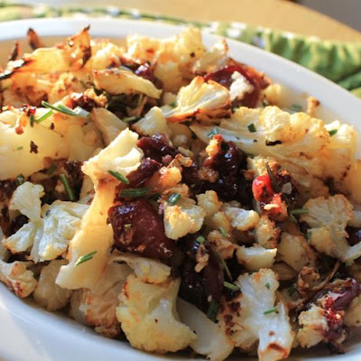 Rosemary Roasted Cauliflower and Grapes
