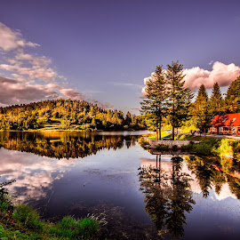 on the lake by Eseker RI - Landscapes Mountains & Hills (  )
