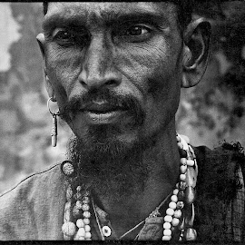 Medicine Man by Jim Downey - People Portraits of Men ( mystic, aesthetic, rituals, sect, character )