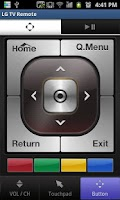 Screenshot of LG TV Remote 2011