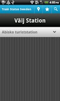 Screenshot of Train Status Sweden