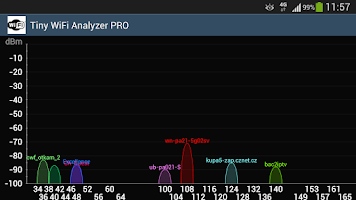 Screenshot of WiFi Analyzer Lite