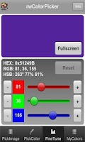 Screenshot of rwColorPicker
