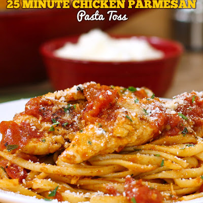 Chicken Parmesan Pasta Toss