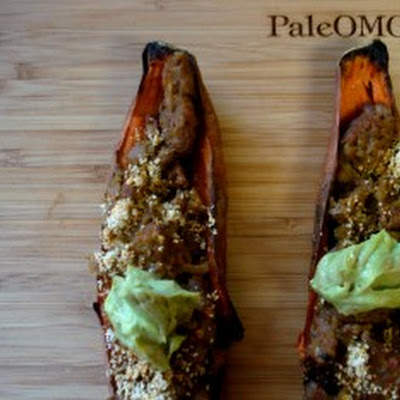 Avocado Chorizo Sweet Potato Skins