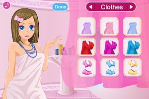 Screenshot of Dress up-Soap Bubbles Princess