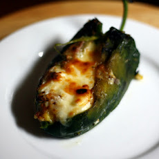 Dinner Tonight: Baked Chile Rellenos with Corn and Crema
