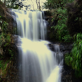 Omeru Falls 3 by Mike Chamberlin - Nature Up Close Water ( waterfall )