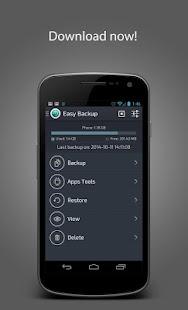 Easy Backup & Restore Screenshot