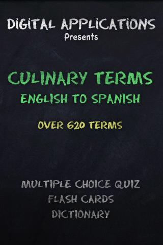 CULINARY Terms-Eng. to Spanish