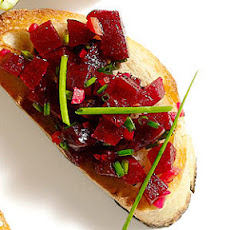 Beets and Preserved Lemon Bruschetta