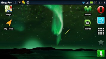 Screenshot of Aurora Borealis LWP Free