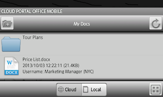 Screenshot of Cloud Portal Office for Phone