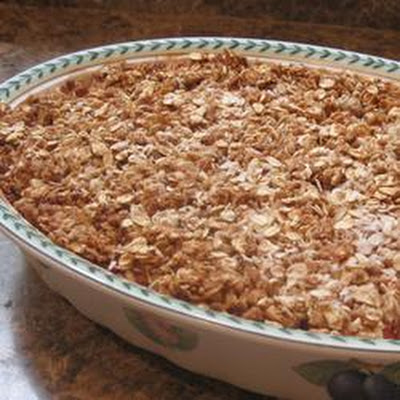Low Sugar Strawberry Rhubarb Crunch