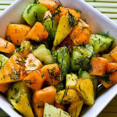 Fruit Salad Recipe with Cantaloupe, Honeydew, Pineapple, and Dill
