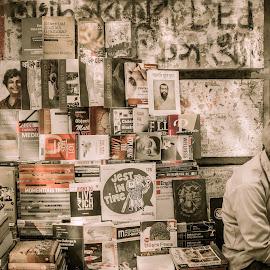 The Bookshelf by Bhaskar Halder - City,  Street & Park  Markets & Shops ( kolkata, jerry, book, india, bengal )