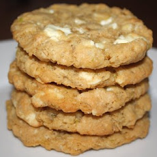 Oatmeal Cookies with Lime, Coconut, and White Chocolate