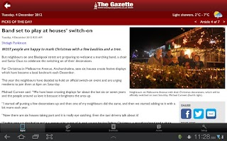Screenshot of The Gazette, Blackpool
