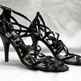 Black open high heels by Michael Moore - Artistic Objects Clothing & Accessories