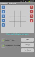Screenshot of Numerical Tic Tac Toe