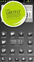 Screenshot of GreyFly Go Launcher EX Theme