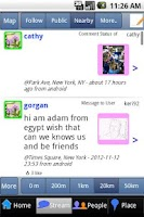Screenshot of NearbyFeed Lite Friend, Place