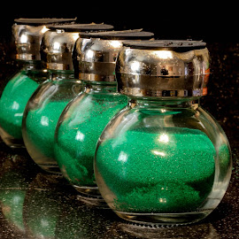 Green sand by Garry Chisholm - Artistic Objects Other Objects ( garry chisholm, sand, green, glass, jars )