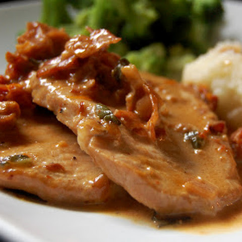 Pork Loin Chops with Prosciutto Cream Sauce