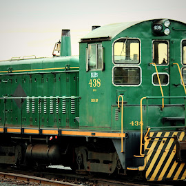 Engine 438 by Sue Delia - Transportation Trains ( train engine, train, old train, green engine,  )