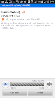 Screenshot of AT&T Voicemail Viewer