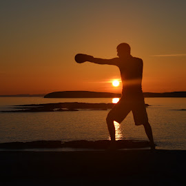 Shadow boxing by Terje Fjellvang - Sports & Fitness Boxing