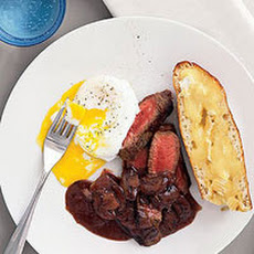 Steak and Eggs with Creamy Mushroom Sauce