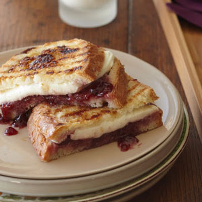 Mozzarella, Raspberry, and Brown Sugar Panini