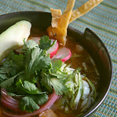 Pozole Rojo (Mexican Pork and Hominy Soup)