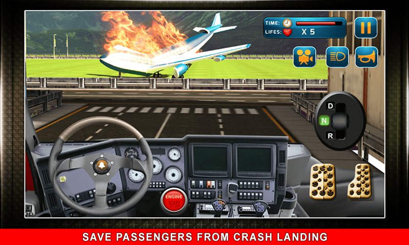911 Rescue Fire Truck 3D Sim Screenshot 0