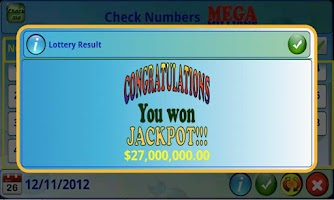 Screenshot of mLottoLuck Lotto Lottery LITE
